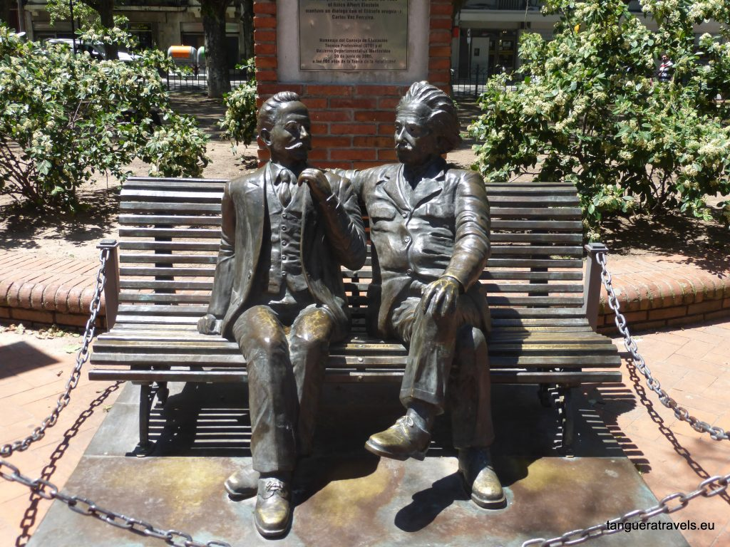 Albert Einstein has a calm conversation with Uruguayan philosopher Carlos Vaz Ferreira