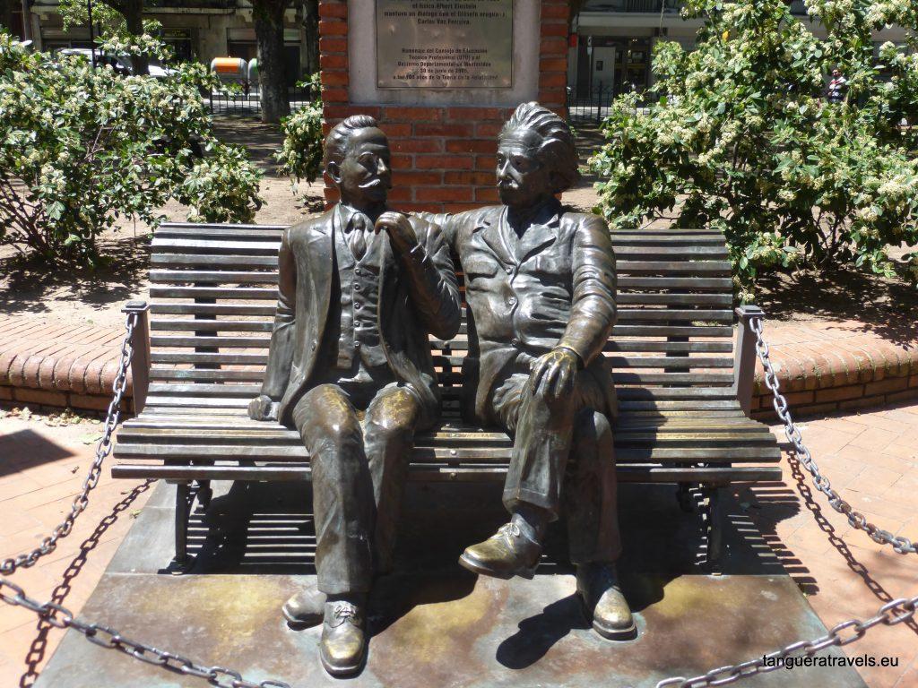 Albert Einstein has a calm conversation with Uruguayan philosopher Carlos Vaz Ferreira