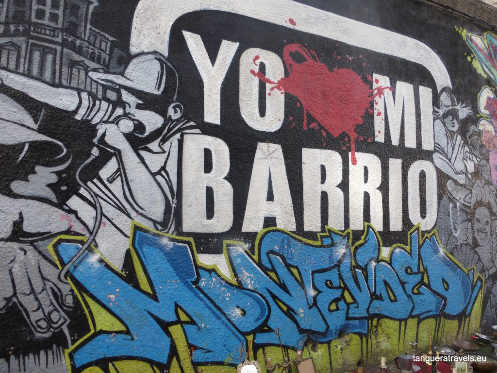 street art in Montevideo: yo quiero mi barrio