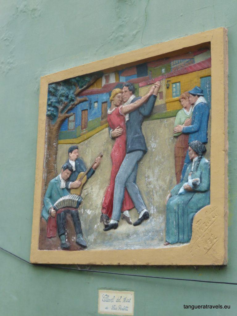 tango mural in La Boca, Buenos Aires