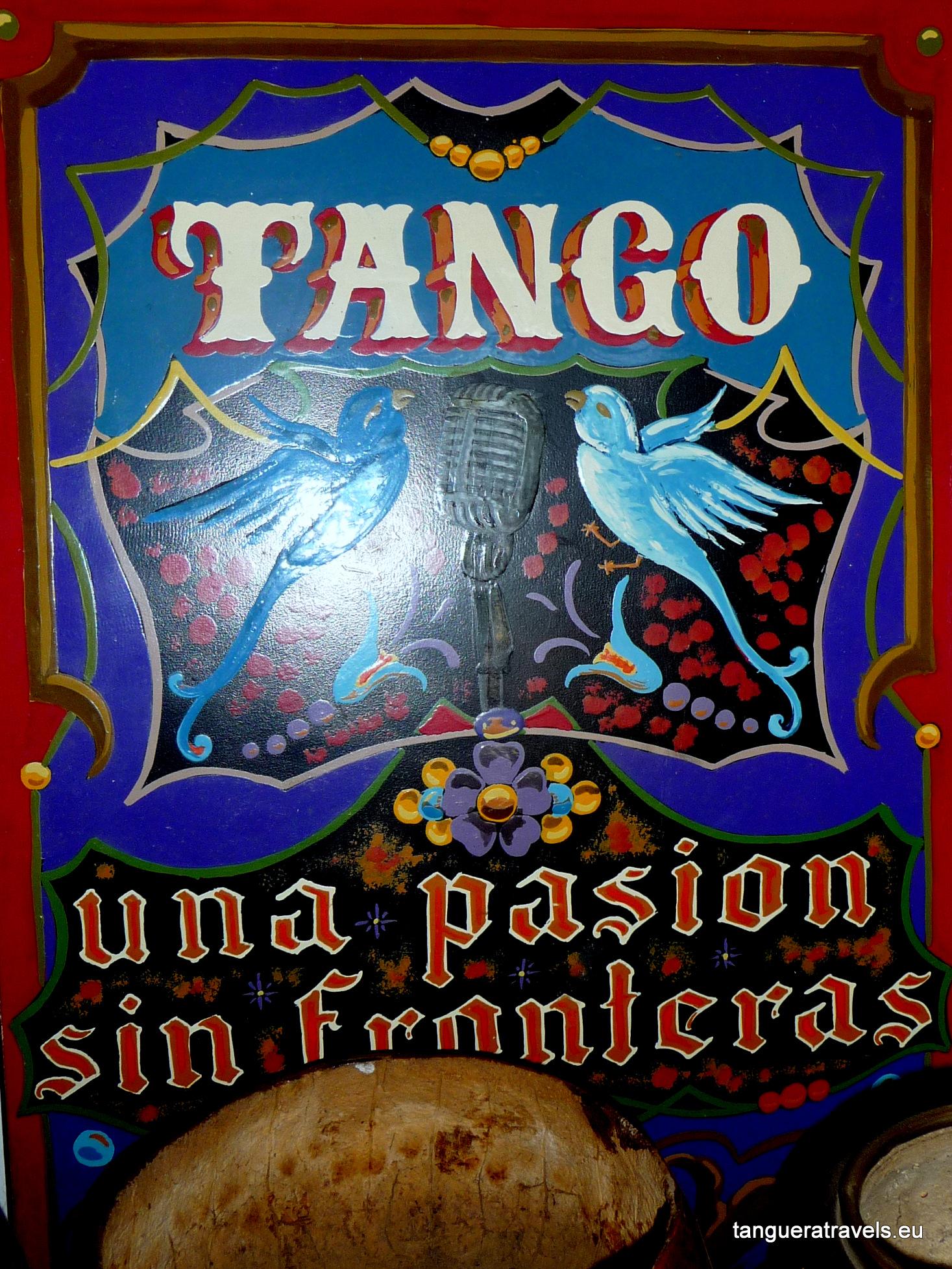 Tango poster, Museo del Mate, Tigre