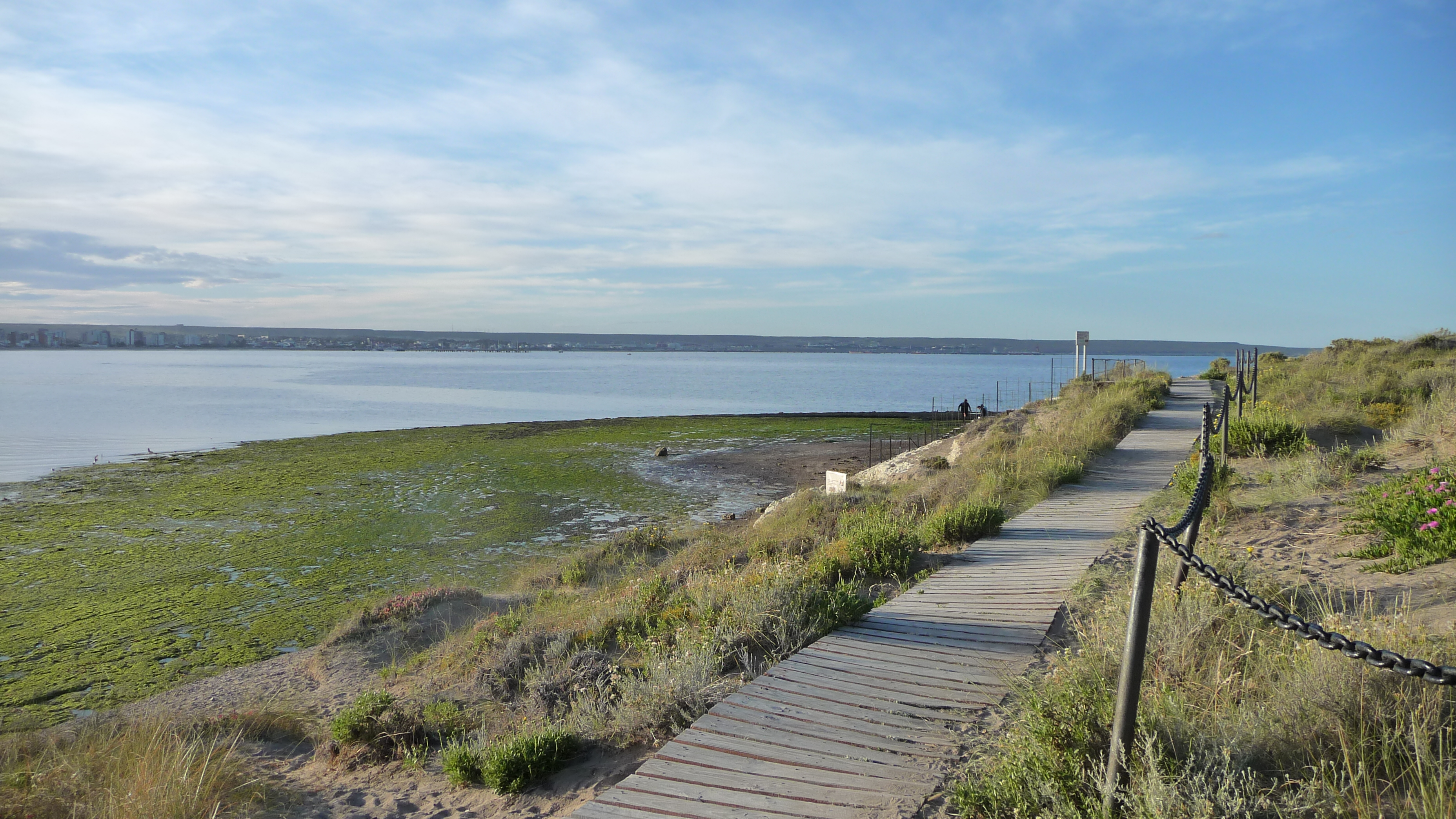 path close to the shore at Museo del Desembarco, Puerto Madryn