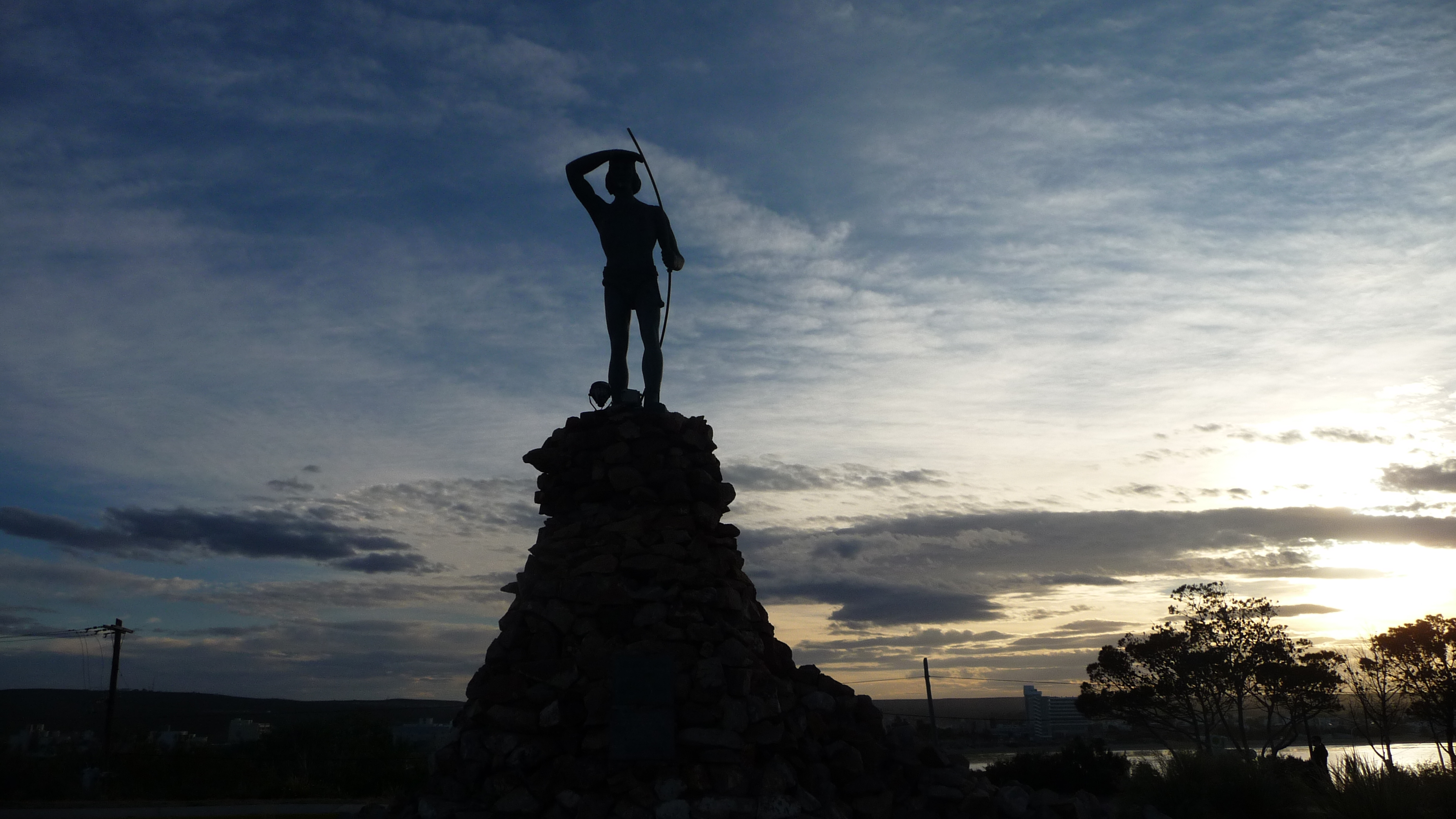 Monument to commemorate the first Welsh settlement in Patagonia, just outside Puerto Madryn, Argentina
