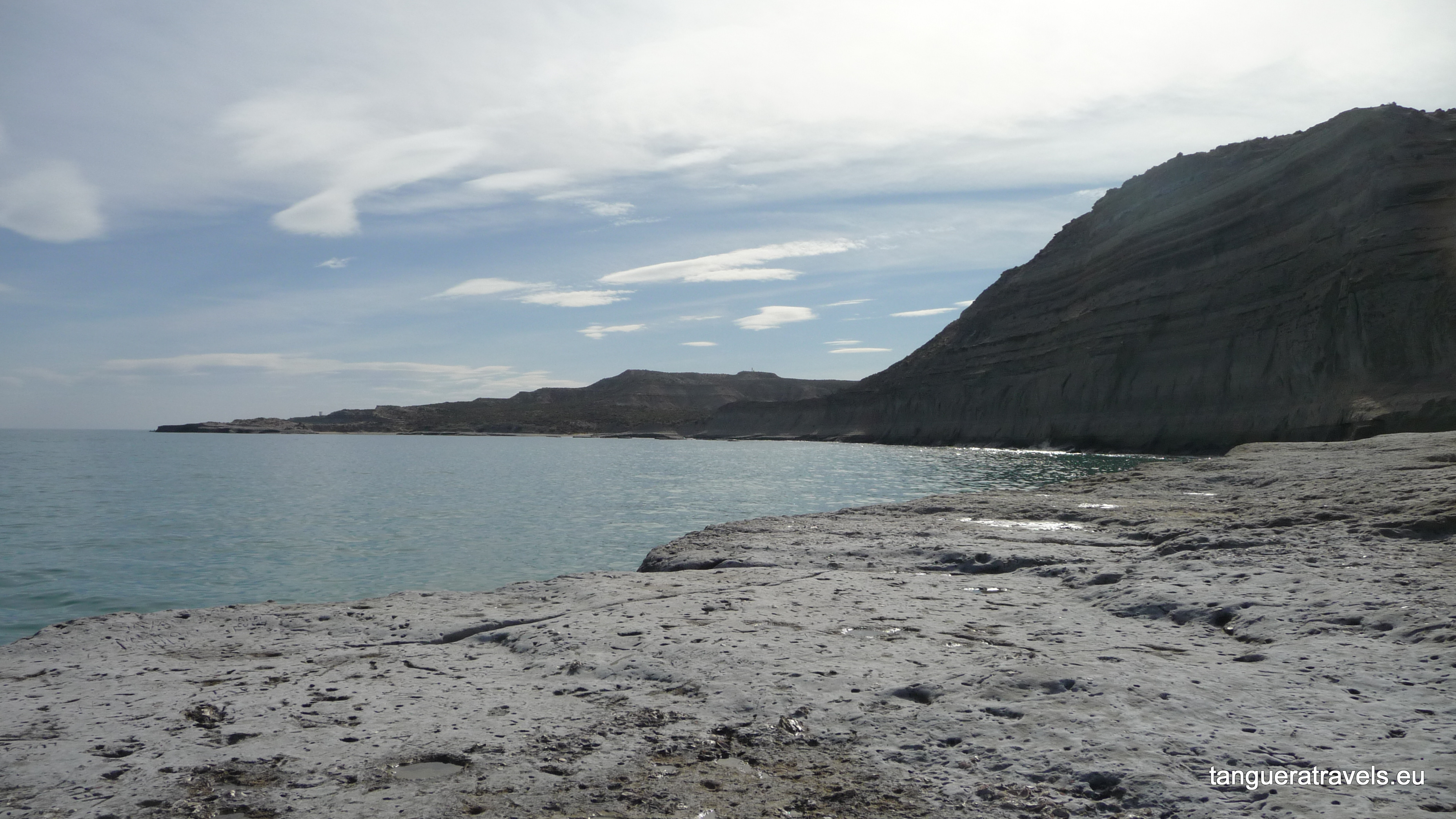 view from the shore at Puerto Piramides