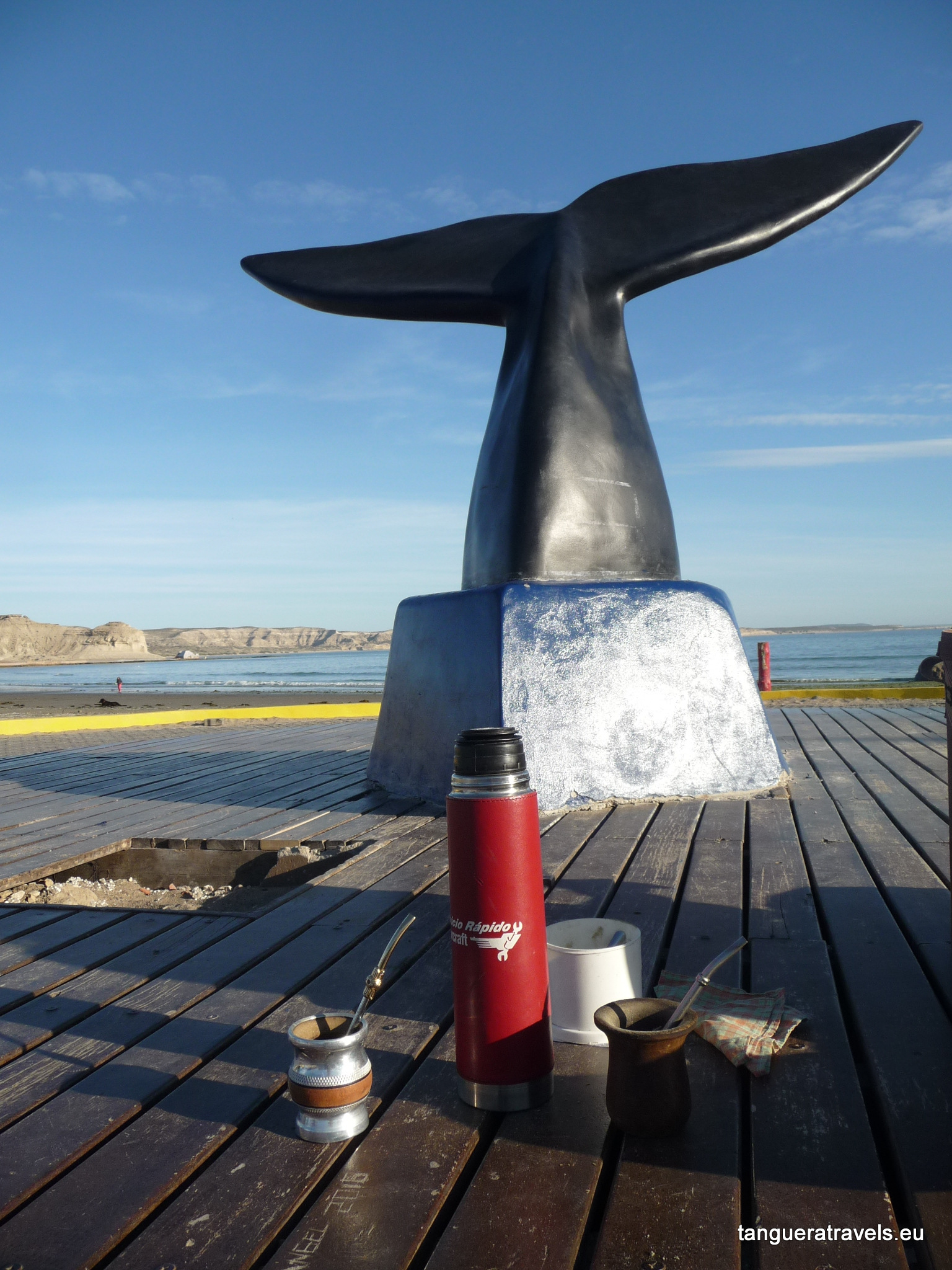 Mate break at Puerto Piramides