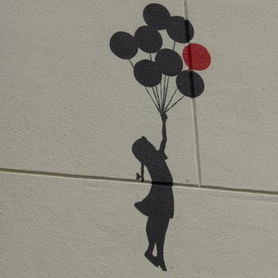 Girl with balloons, Amsterdam