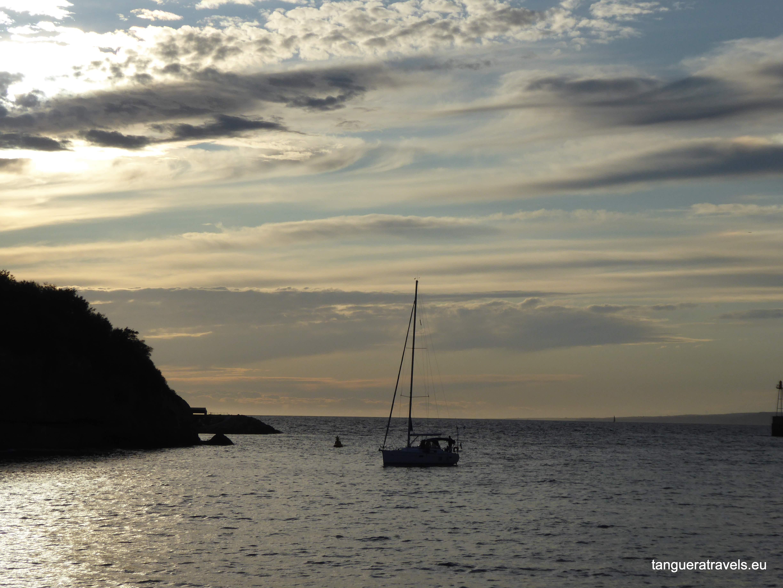 Port of Marseille at sunset