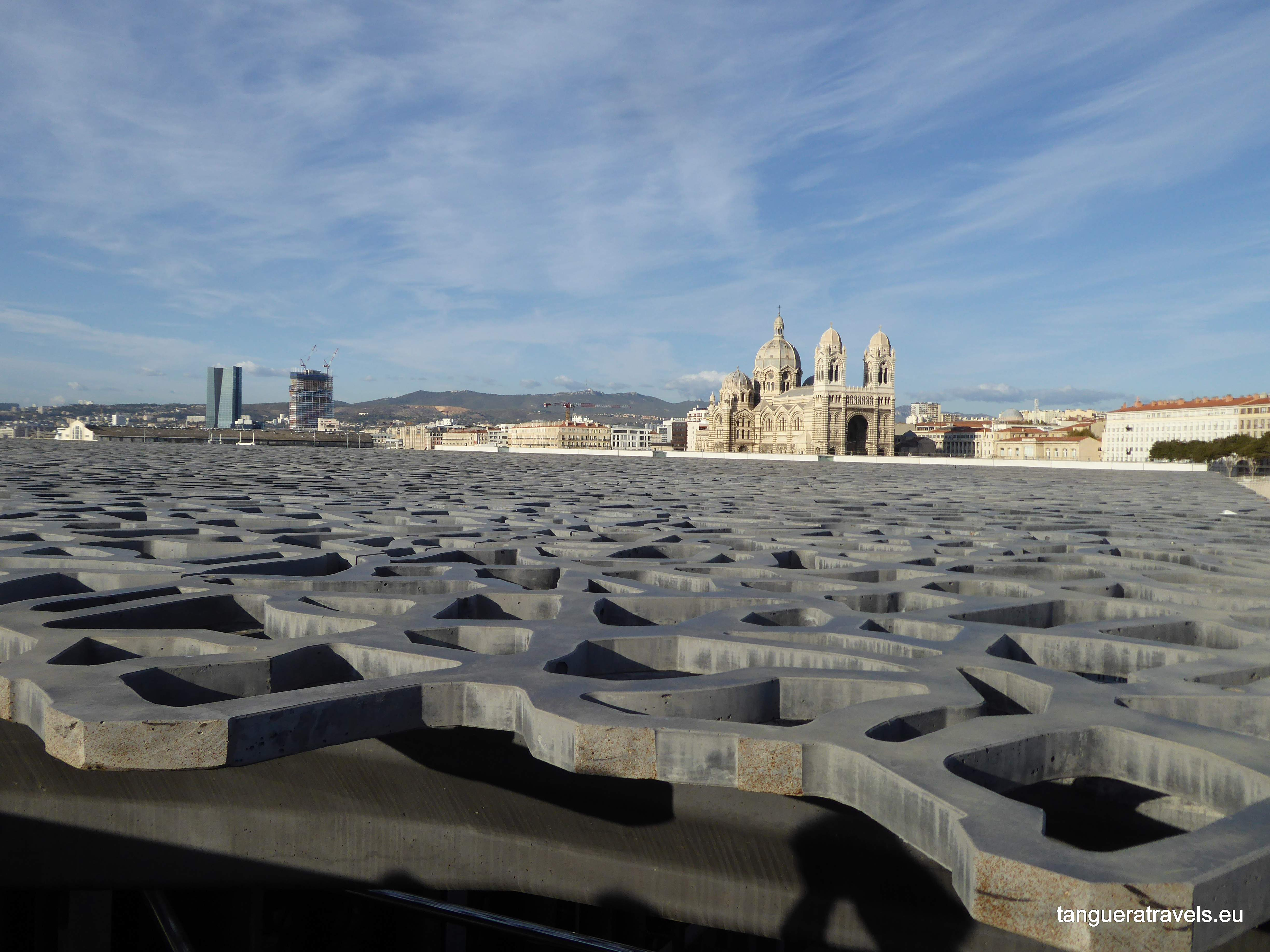 cathedral seen from the MUCEM