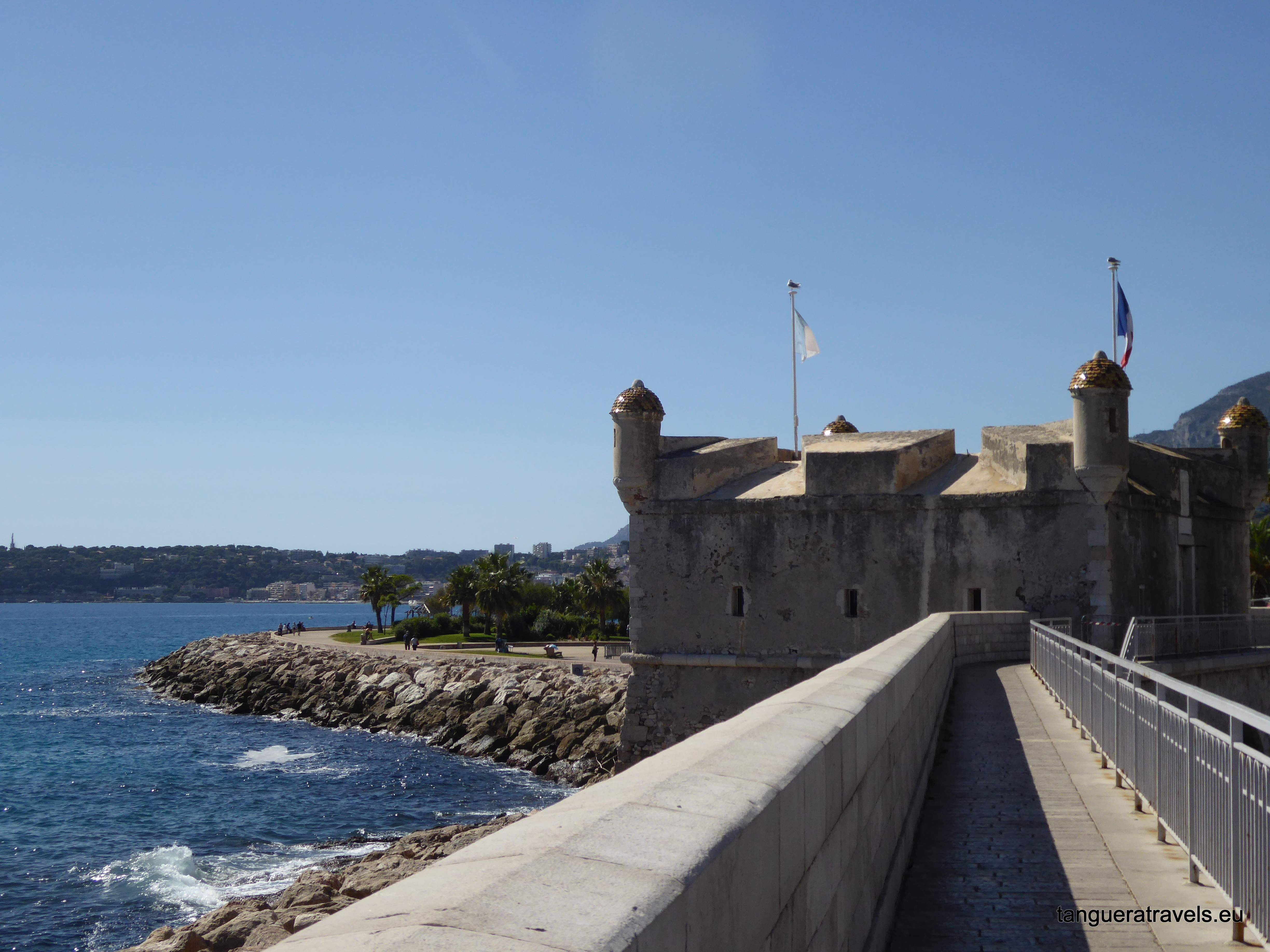 View of Musee du Bastion from the fortifications