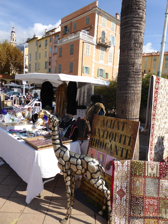 Outdoor antiques market Menton