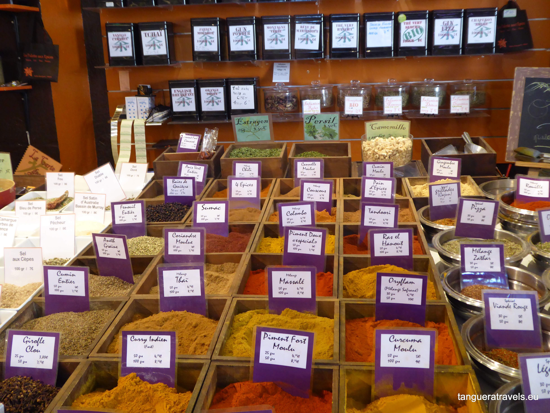 spice stall at Menton market