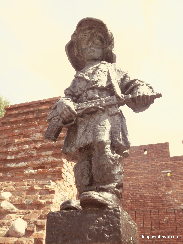 Pomnik Mały Powstaniec (the little Insurrectionist), Warsaw