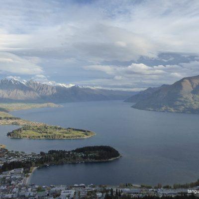 Lake Wakatipu, view from Skyline Gondola summit, Queenstown, New Zealand