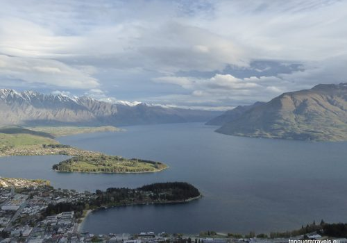 Lake Wakatipu, view from Skyline Gondola summit, Queenstown, New Zealand