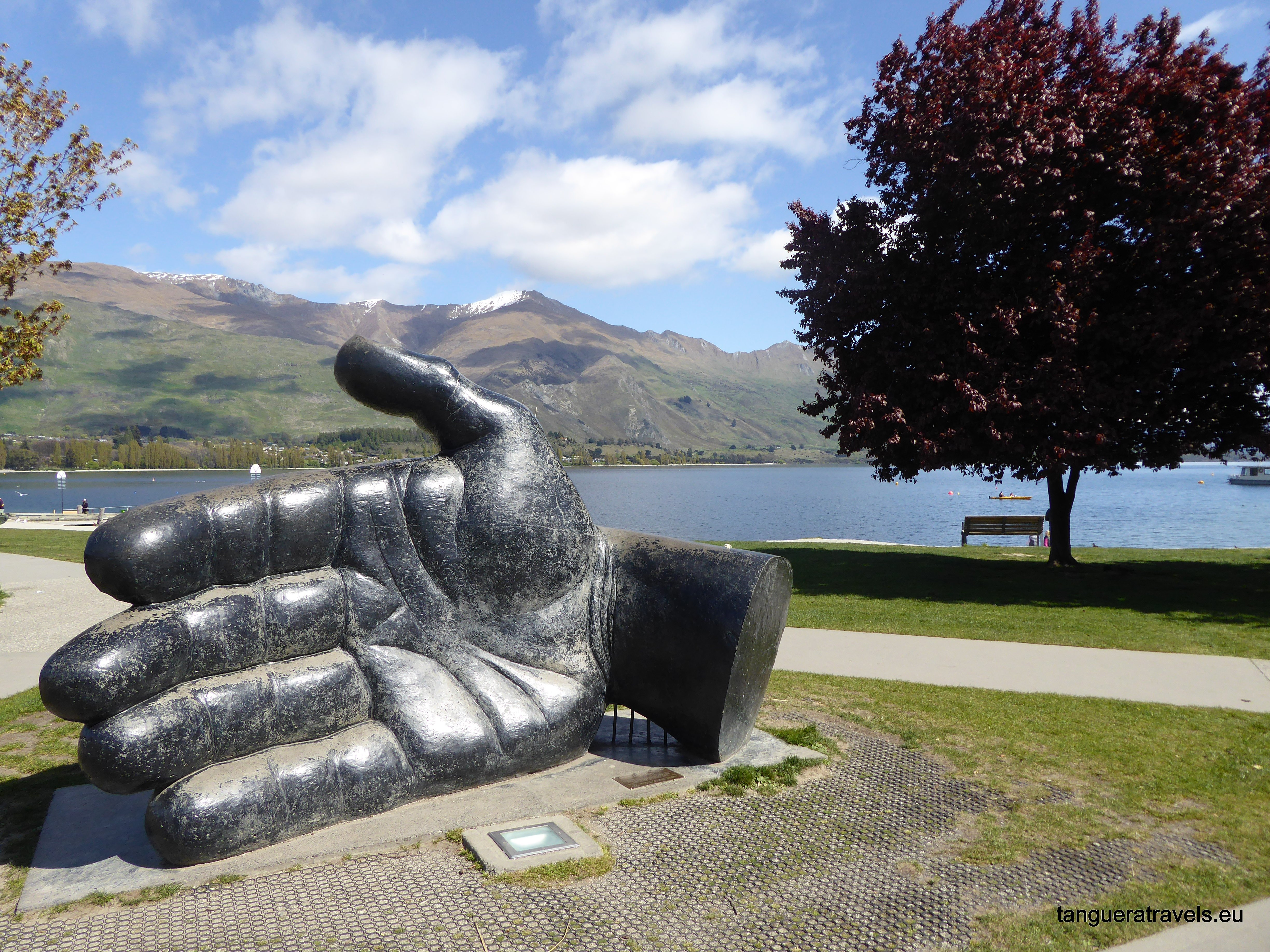 The hand that nurtures by Llew Summers, Wanaka