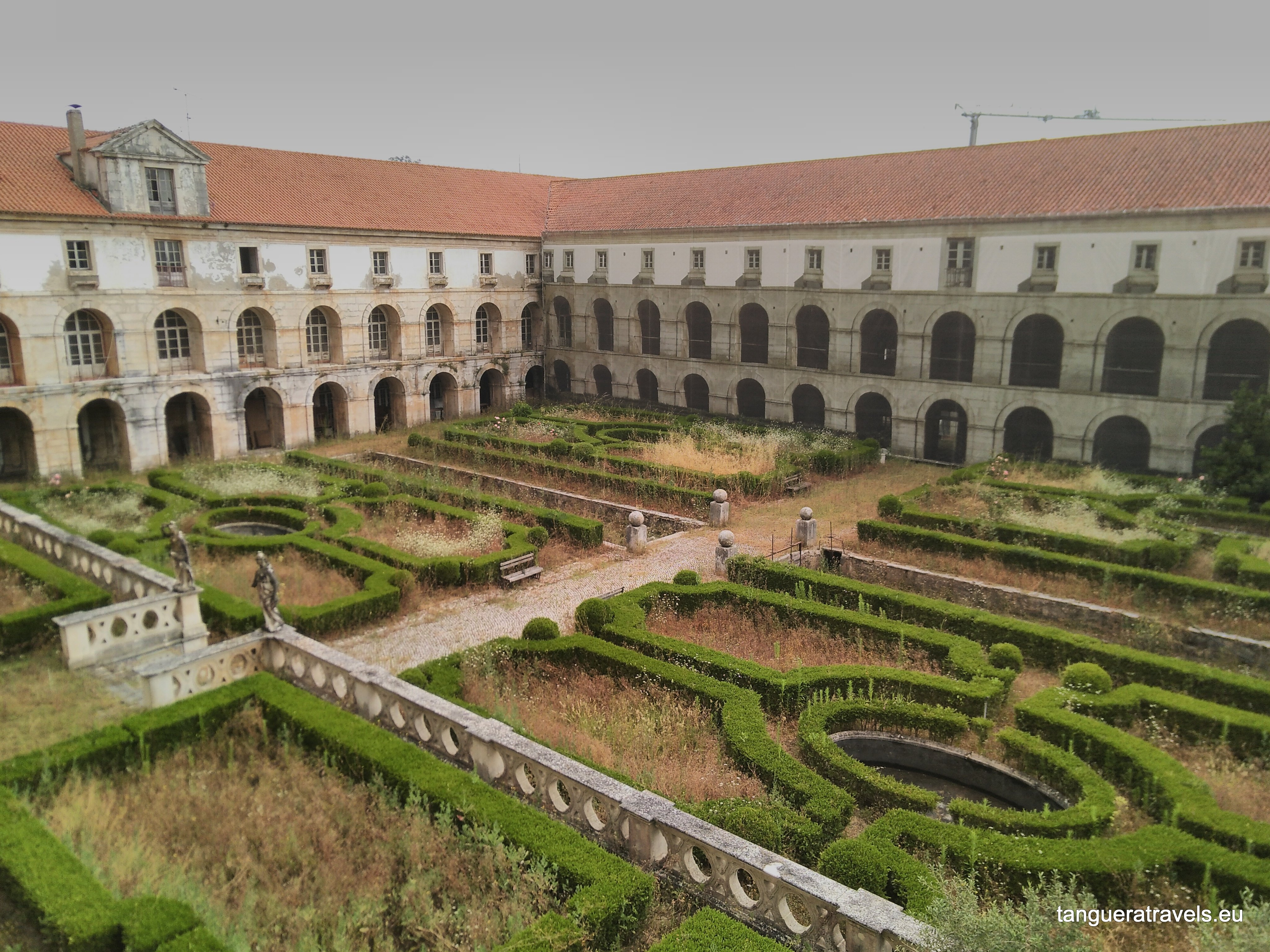 View of the Cloister of the Cardinal from the monks dormitory in the monastery of Alcobaça