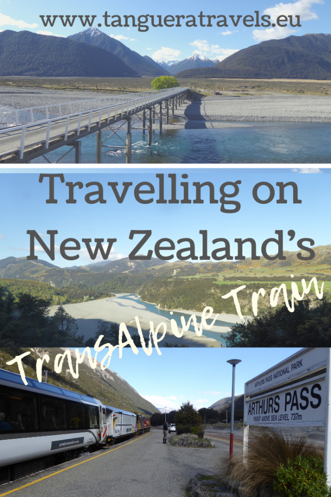 Travelling on New Zealand's TranzAlpine train